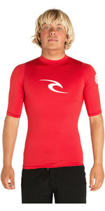 2019 Rip Curl Corpo Short Sleeve UV Tee Rash Vest Red WLE4KM