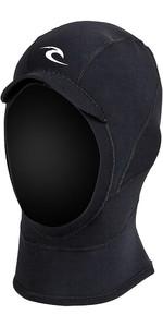 2020 Rip Curl E-Bomb 2mm GBS Neoprene Hood Black WHOOAE