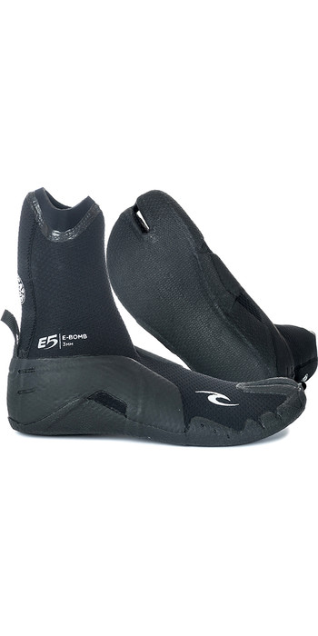 2021 Rip Curl E-Bomb 3mm Split Toe Wetsuit Boots Black WBO7EM