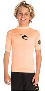 2019 Rip Curl Junior Boys Corpo Short Sleeve Rash Vest Orange WLY5DB