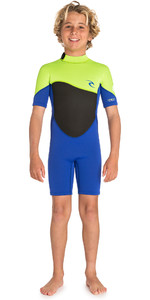 2019 Rip Curl Junior Omega 1.5mm Shorty Wetsuit Lime WSP7FB