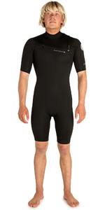2019 Rip Curl Mens Aggrolite 2mm Chest Zip Spring Shorty Wetsuit BLACK WSP6GM