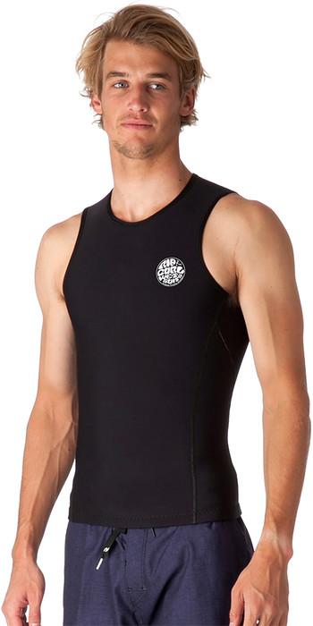 2020 Rip Curl Mens Flashbomb 0.5mm Sleeveless Neoprene Vest Black WVE7CM