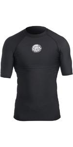 2019 Rip Curl Mens Flashbomb Polypro Short Sleeve Thermal Top Black WLA5BM