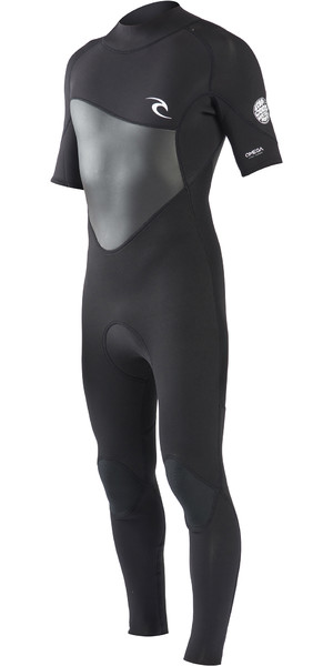 2019 Rip Curl Mens Omega 3/2mm Short Sleeve Wetsuit Black WSM8NM