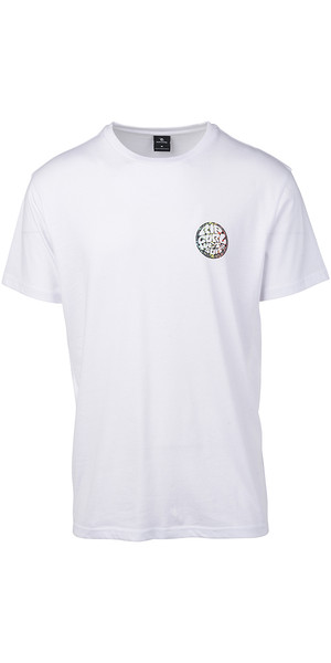 2019 Rip Curl Mens Rider T-Shirt Optical White CTEIK5