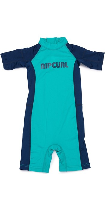 2019 Rip Curl Toddlers Short Sleeve UV Spring Suit Turquoise WLY8EO