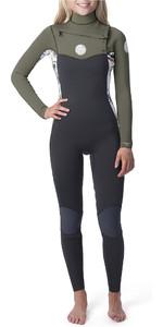 2020 Rip Curl Womens Dawn Patrol 4/3mm Chest Zip Wetsuit White WSM9BS