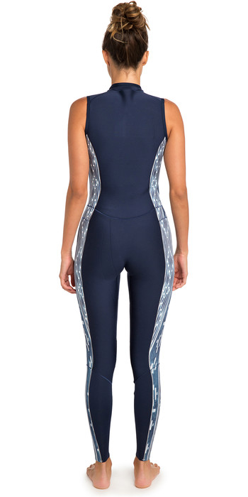 2019 Rip Curl Womens G-Bomb 1.5mm Front Zip Long Jane Wetsuit Blue WSM6AS