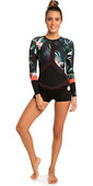 2019 Rip Curl Womens Madi 1mm Long Sleeve Boyleg Shorty Wetsuit Coral WSP7CW