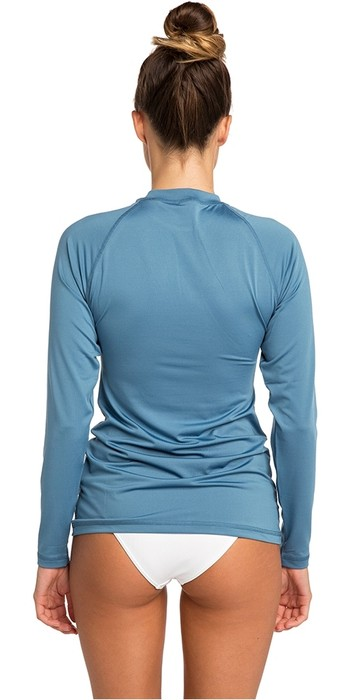 2020 Rip Curl Womens Sunny Rays Relaxed Long Sleeve Rash Vest Denim Blue WLY6FW