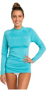 2019 Rip Curl Womens Sunny Rays Relaxed Long Sleeve Rash Vest Light Blue WLY6FW