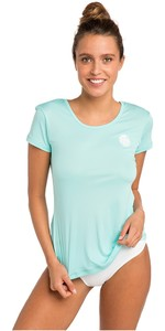 2021 Rip Curl Womens White Wash Loose Fit Rash Vest Blue WLU9QW