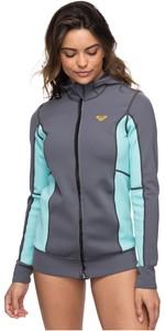 2019 Roxy Womens Syncro Paddle Jacket Deep Grey / Glacier Blue ERJW803013