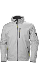 2019 Helly Hansen Hooded Crew Mid Layer Jacket Grey Fog 33874