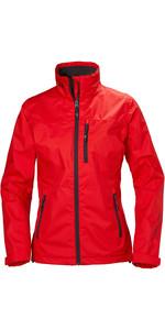 2020 Helly Hansen Womens Crew Jacket Alert Red 30297