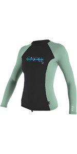 2019 O'Neill Girls Premium Skins Long Sleeve Rash Vest Midnite Oil 4176