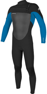 2019 O'Neill Mens Epic 5/4mm Chest Zip Wetsuit Black / Bright Blue 5370