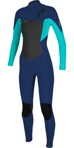 2019 O'Neill Womens Epic 5/4mm Chest Zip GBS Wetsuit Navy / Aqua 5371
