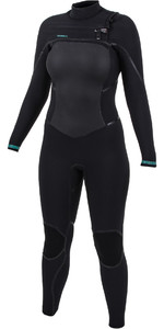 2019 O'Neill Womens Psycho Tech 5/4+mm Chest Zip Wetsuit Black 5367