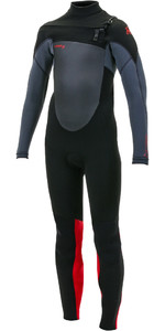 2019 O'Neill Youth Epic 5/4mm Chest Zip GBS Wetsuit Black / Graphite / Red 5372