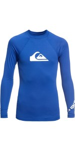 2019 Quiksilver Boys All Time Long Sleeve Rash Vest Electric Royal EQBWR03075