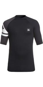 2019 Quiksilver Active Short Sleeve Rash Vest Black EQYWR03154