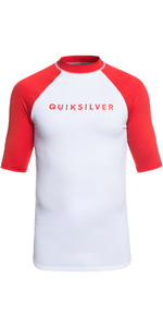 2019 Quiksilver Always There Short Sleeve Rash Vest Red EQYWR03142