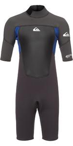 2020 Quiksilver Junior Prologue 2mm Shorty Wetsuit Graphite / Blue EQBW503008