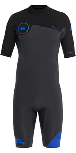 2019 Quiksilver Syncro Series 2mm Back Zip Shorty Wetsuit Graphite / Black EQYW503006