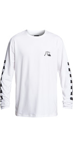 2019 Quiksilver Turbo Long Sleeve Loose Fit Rash Vest White EQYWR03152