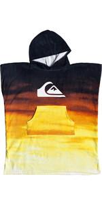 2019 Quiksilver Youth Hoody Towel / Changing Robe Tiger Orange EQBAA03060