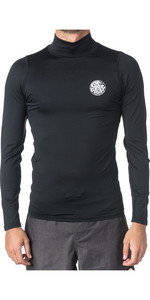 2019 Rip Curl Corpo Long Sleeve High Neck Rash Vest Black WLE8NM
