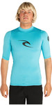2019 Rip Curl Mens Corpo Short Sleeve UV Tee Rash Vest BLUE WLE4KM