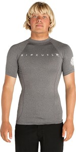 2019 Rip Curl Mens Dawn Patrol Short Sleeve Rash Vest Black WLUGDM