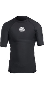 2019 Rip Curl Mens Flash Bomb Polypro Short Sleeve Thermal Top Black WLA5BM