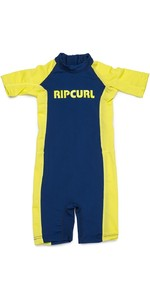 2019 Rip Curl Toddlers Short Sleeve UV Spring Suit Lime WLY8EO
