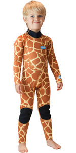 2020 Saltskin Junior 3/2mm Back Zip Wetsuit - Giraffe