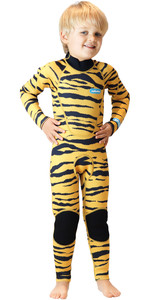 2020 Saltskin Junior 3/2mm Back Zip Wetsuit - Tiger