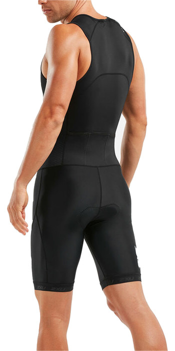 2020 2XU Mens Mens Active Half Zip Trisuit MT5540D - Black