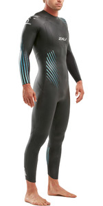 2020 2XU Mens P:1 Propel Triathlon Wetsuit MW4991C - Black / Blue Ombre