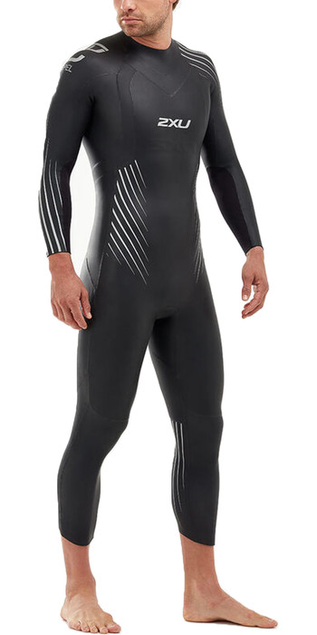 2020 2XU Mens P:1 Propel Triathlon Wetsuit MW4991C - Black / Silver Shadow