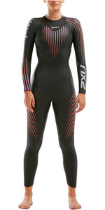 2021 2XU Womens P:1 Propel Triathlon Wetsuit WW4994C - Black / Sunset
