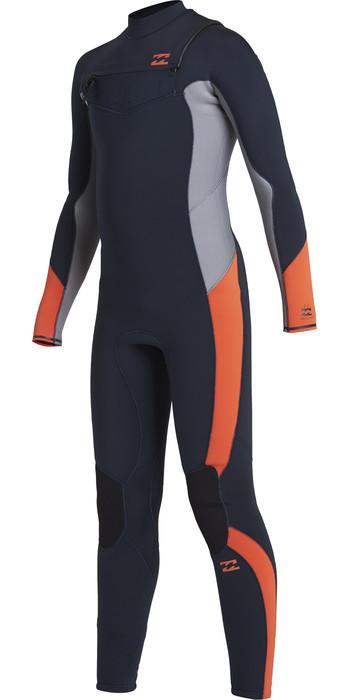 2020 Billabong Junior Boys Absolute 5/4mm Chest Zip Wetsuit U45B13 - Navy