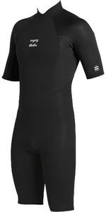 2020 Billabong Junior Boys Intruder 2mm Back Zip Shorty Wetsuit 042B19 - Black
