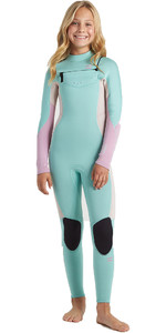 2020 Billabong Junior Girls Synergy 5/4mm Chest Zip Wetsuit U45B30 - Ice