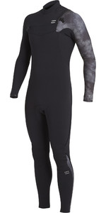 2020 Billabong Mens Furnace Comp 4/3mm Chest Zip Wetsuit U44M52 - Black Tie Dye