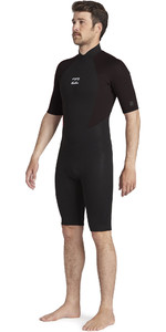2021 Billabong Mens Intruder 2mm Back Zip Shorty Wetsuit 042M19 - Black