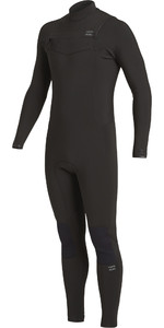 2020 Billabong Mens Revolution 4/3mm Chest Zip Wetsuit U44M56 - Black