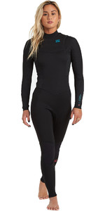 2020 Billabong Womens Synergy 4/3mm Chest Zip GBS Wetsuit U44G34 - Black